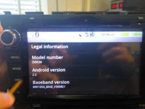 Китайская Магнитол ZX9030 с ошибкой Androida 2.2
